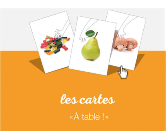 jeu carte table nutrition